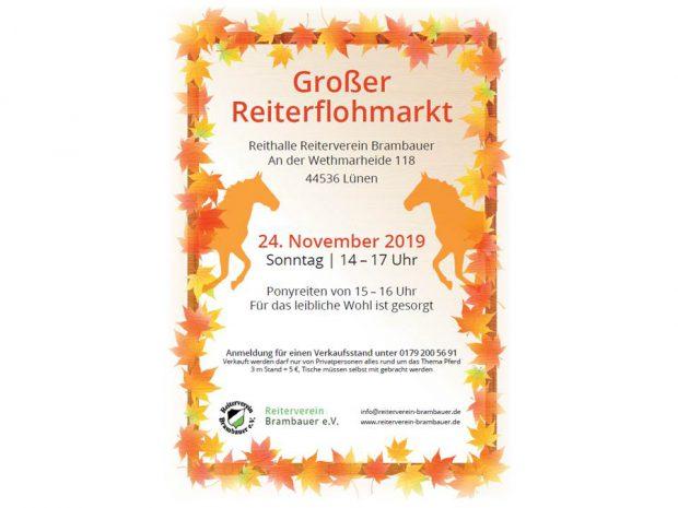 Reiterflohmarkt am 24.11.2019 von 14:00 – 17:00 Uhr